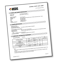 Polylaser sheet MSDS